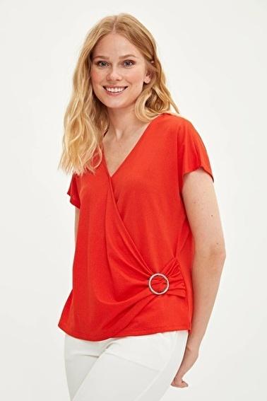 DeFacto Yarasa Kol T-shirt Kırmızı
